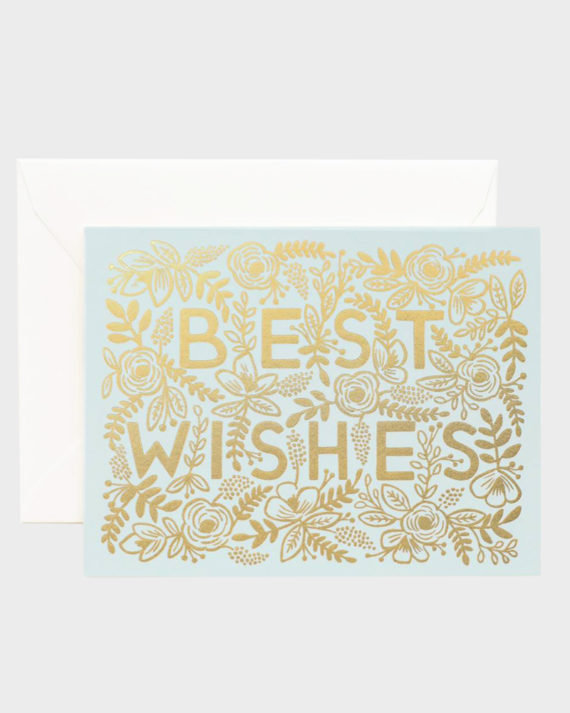 Rifle Paper co Best Wishes Greeting Card Onnittelukortti