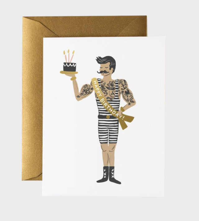 Rifle Paper co Strongman Birthday Card Synttärikortti