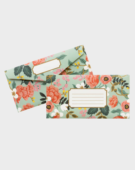 Rifle Paper co Mint Birch Monarch Envelopes Kirjekuoret