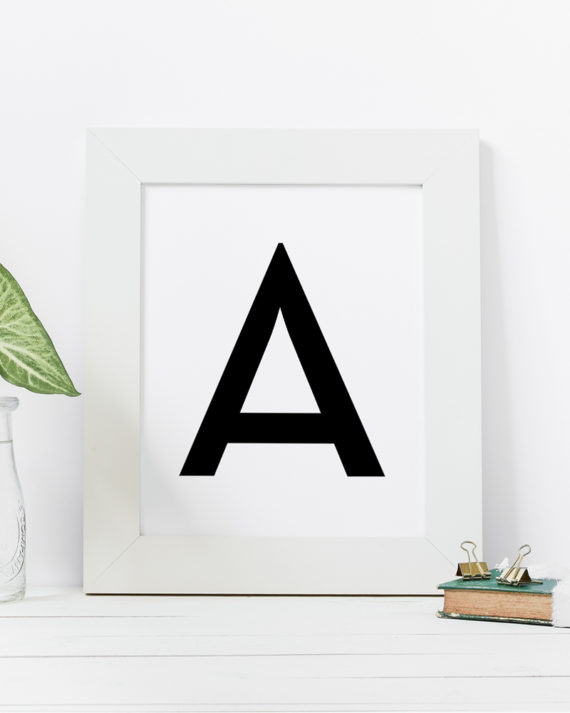 Papershop A-ÖKirjain Juliste Letter Poster