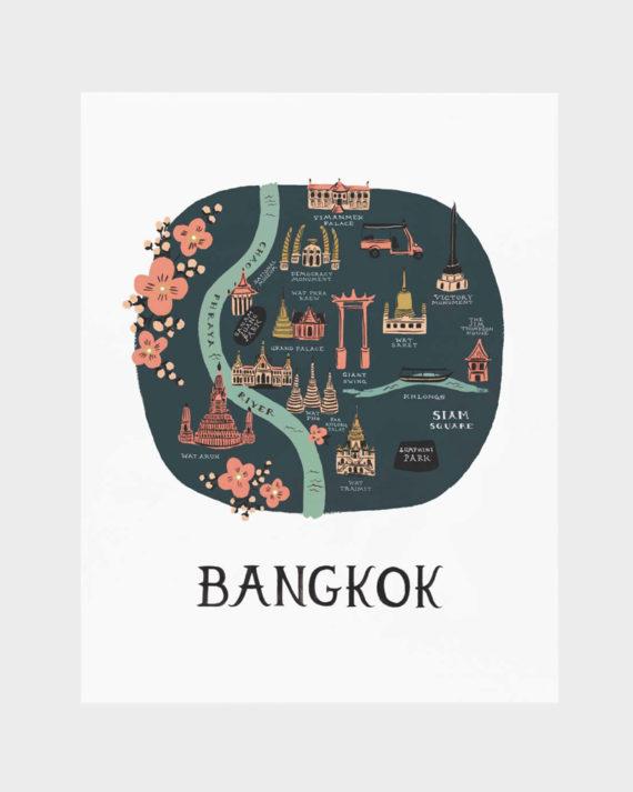 Rifle Paper co Bangkok poster art print juliste