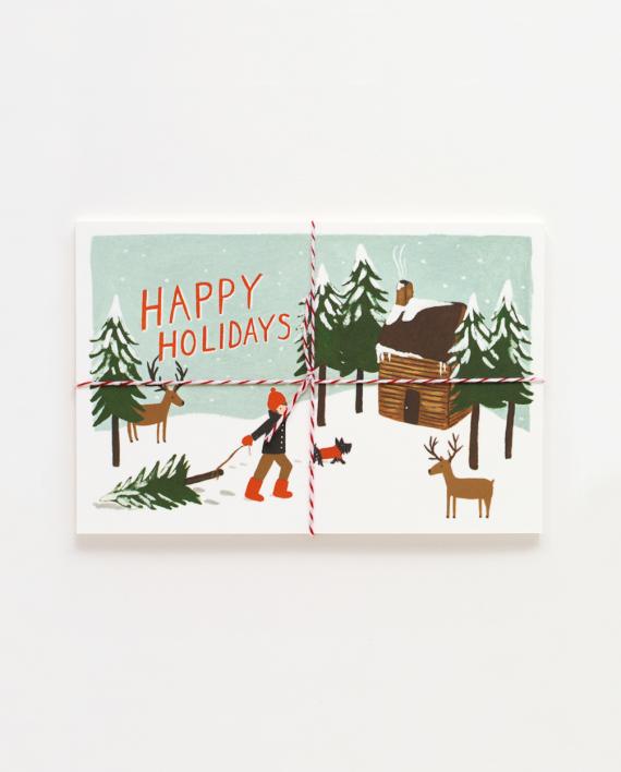 Happy Holidays Joulupostikortit