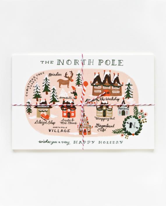North Pole Joulupostikortit