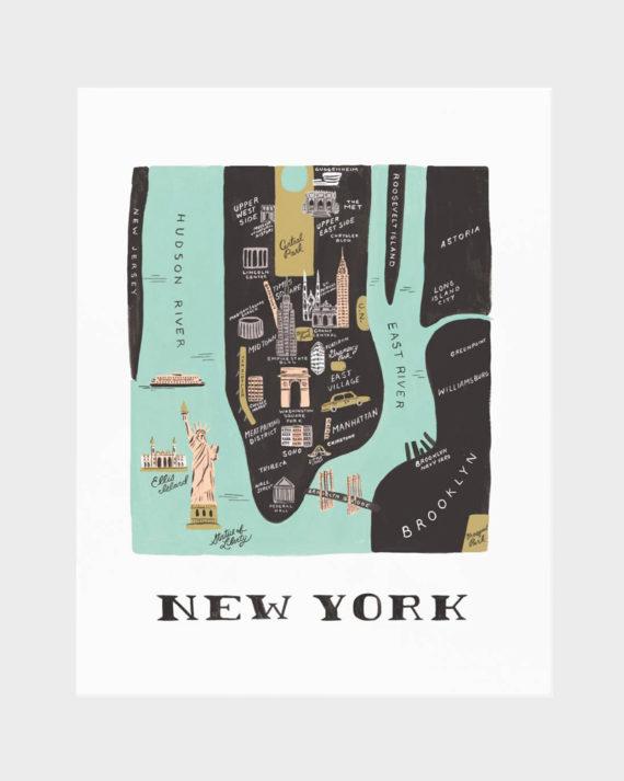 Rifle Paper co Manhattan poster art print juliste