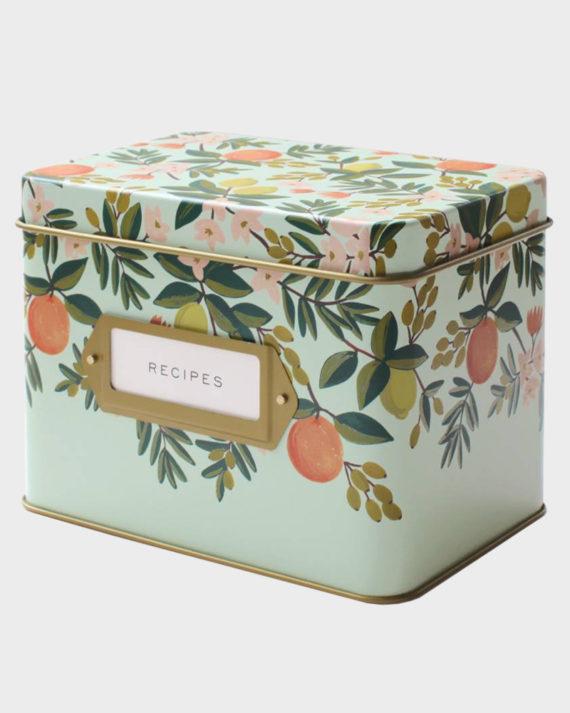 Rifle Paper co Citrus Floral recipe box Reseptilaatikko