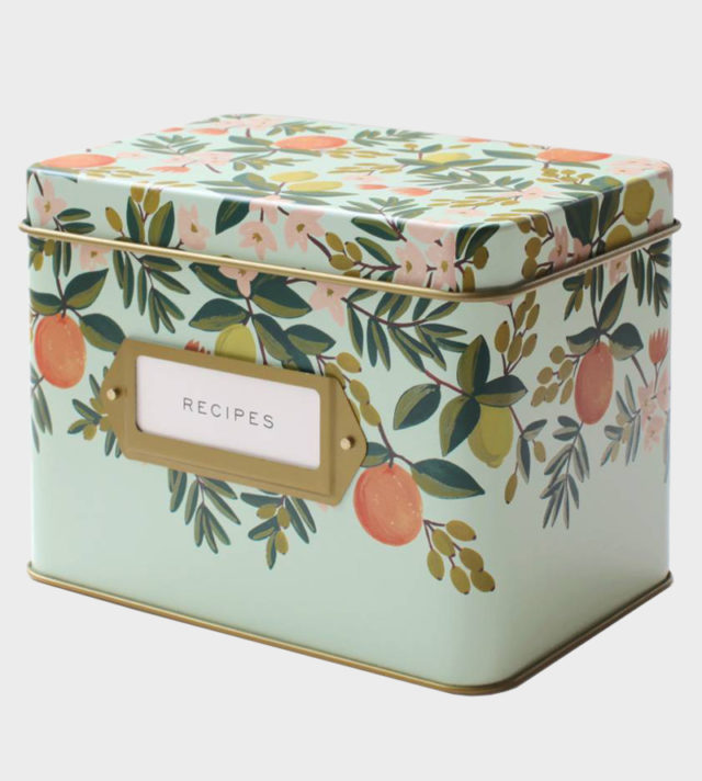 Rifle Paper co Citrus Floral recipe box Reseptilaatikko