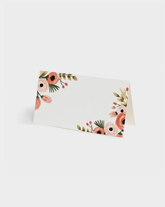 Rifle Paper Dusty Rose paikkakortit