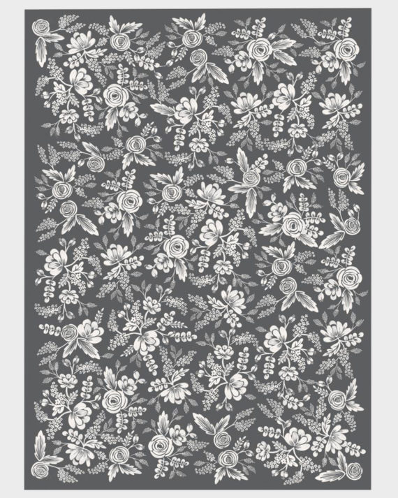 Rifle Paper co Graphite Lace Wrapping paper sheets Lahjapaperi