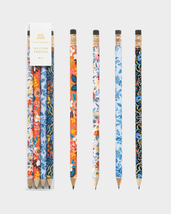 Rifle Paper co Floral pencil set kuviollinen lyijykynä setti