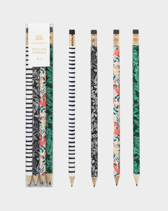 Rifle Paper co Folk pencil set kuviollinen lyijykynä setti