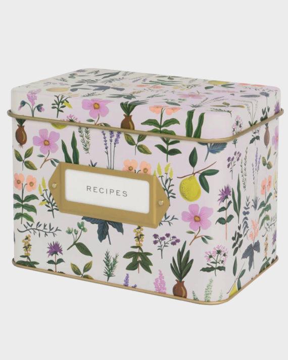 Rifle Paper co Herb Garden recipe box Reseptilaatikko