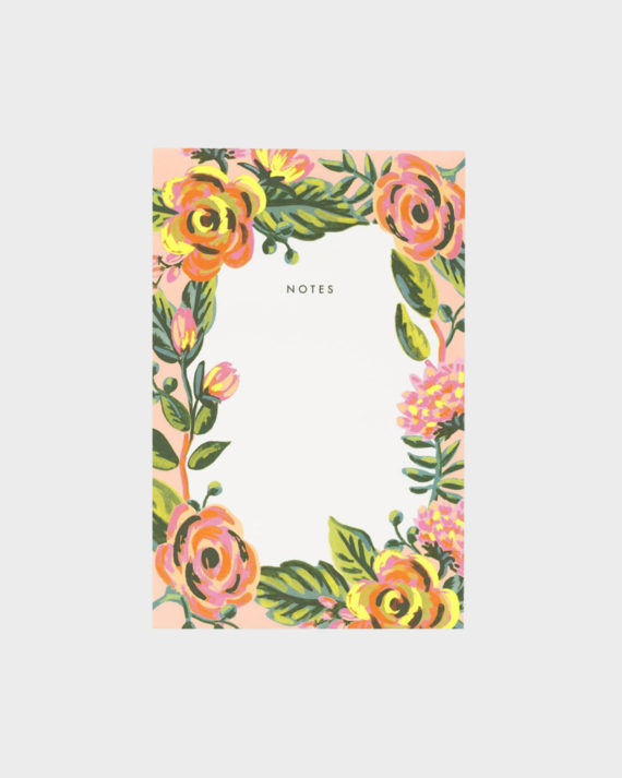 Rifle Paper co Jardin De Paris Notepad Muistilehtiö