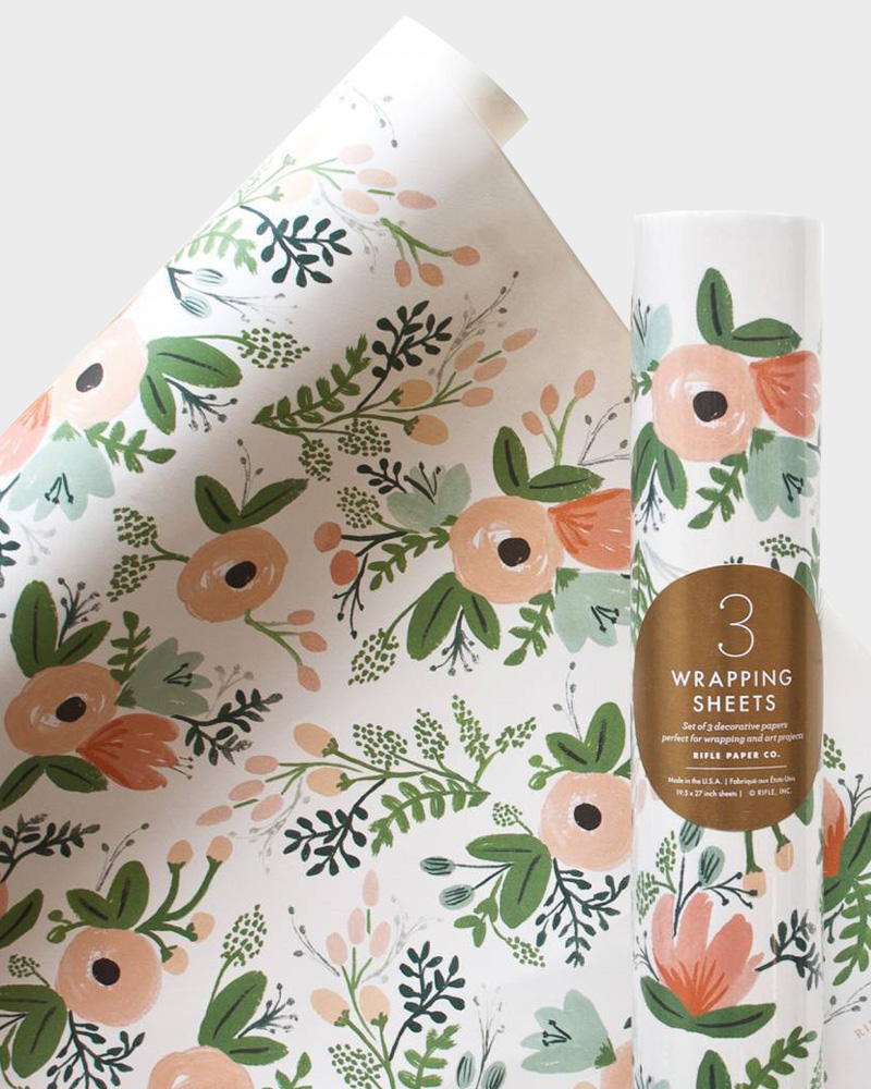 Rifle Paper co Wildflower Wrapping paper sheets Lahjapaperi