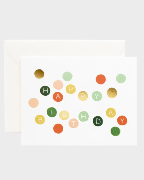 Rifle Paper co Birthday Dots Card Syntymäpäiväkortti