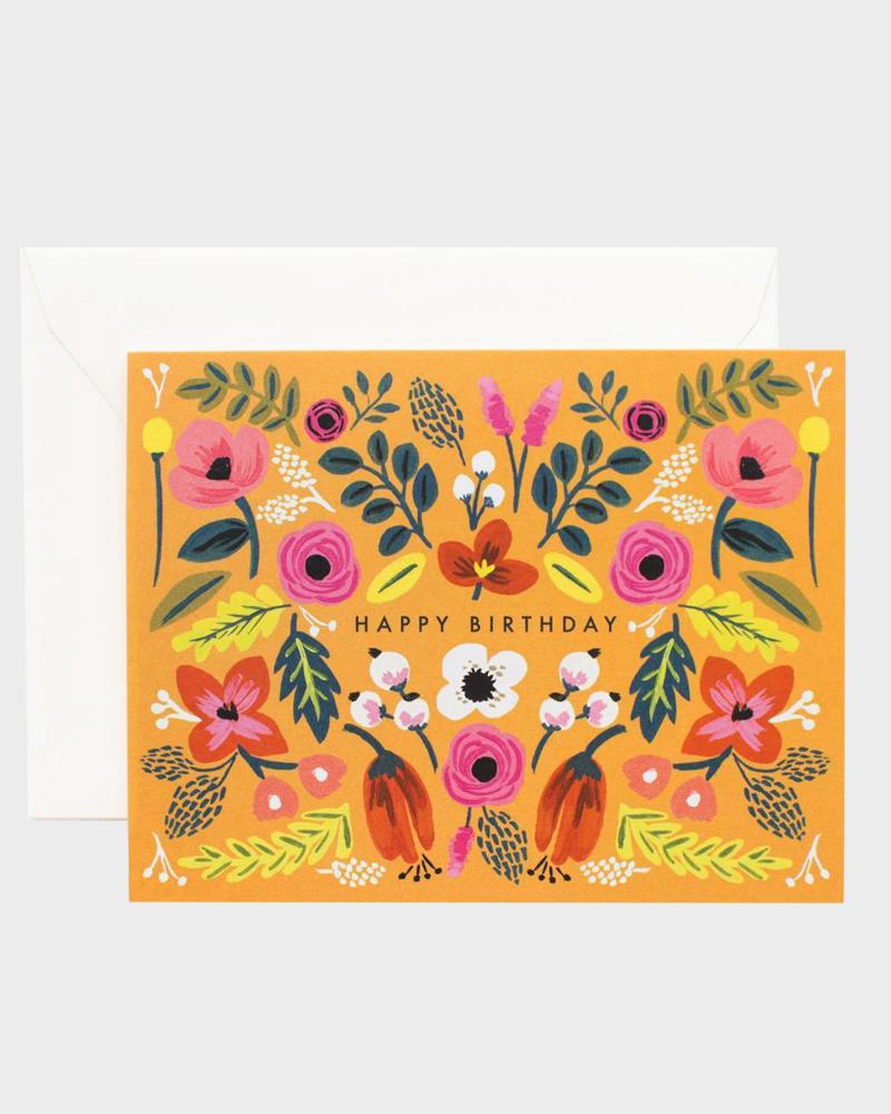Rifle Paper co Folk Happy Birthday Card Synttärikortti