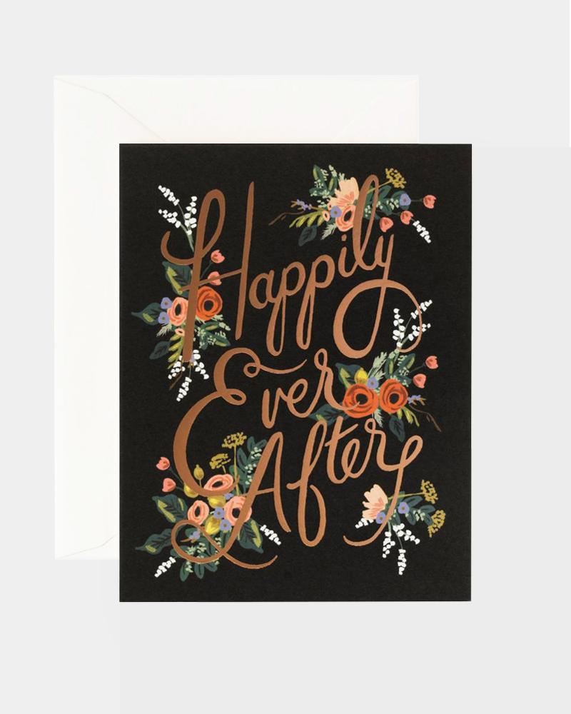 Happily Ever After Wedding Card Hääkortti