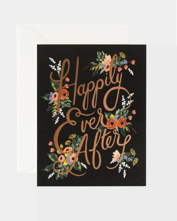 Rifle Paper co Eternal Happily Ever After Wedding Card Hääkor