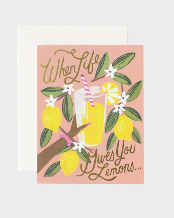Rifle Paper co When Life Gives You Lemons Card Kortti