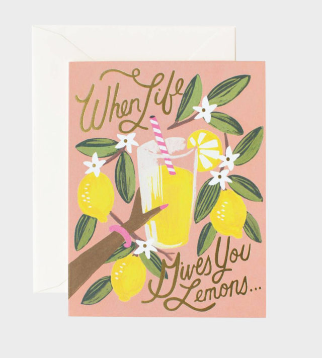Rifle Paper co When Life Gives You Lemons Card Kortti