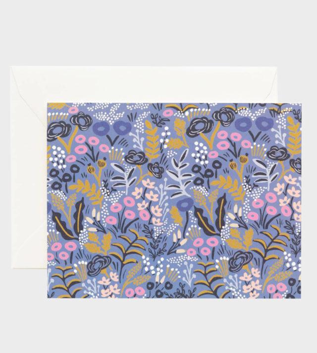 Rifle Paper co Tapestry Cobalt Blue Card Kortti