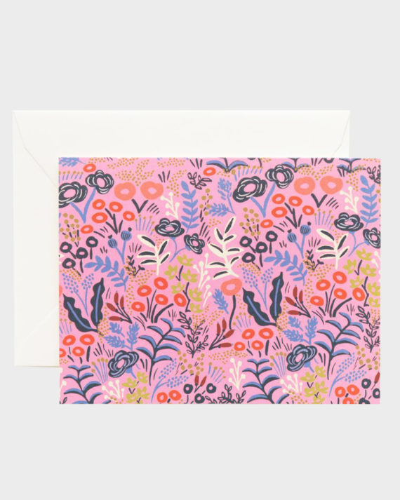 Rifle Paper co Tapestry Pink Violet Card Kortti