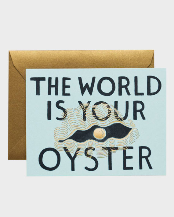 Rifle Paper co The world is your oyster Greeting Card Kortti