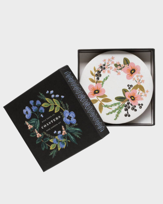 Rifle Paper co Herb Garden Coaster Set Lasinaluset