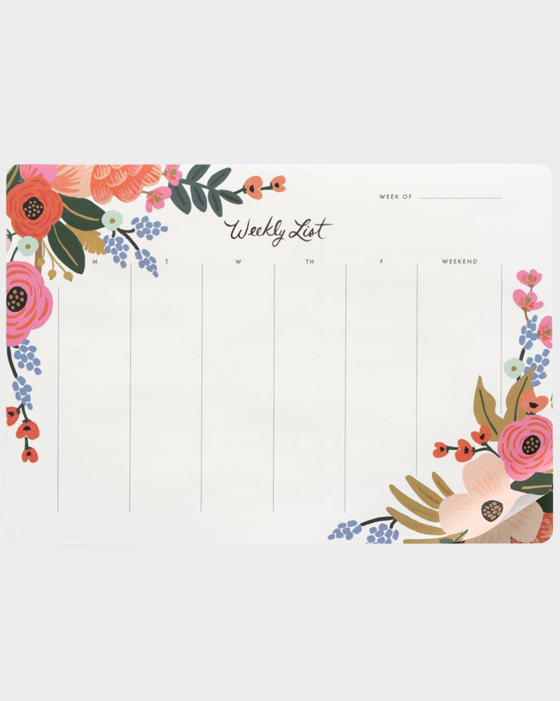 Rifle Paper co Lively Floral Weekly list Viikkolista