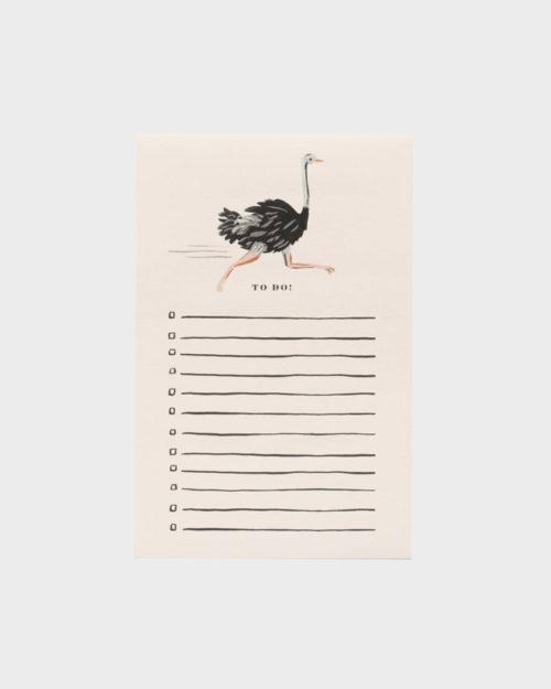 Rifle Paper co Ostricth Notepad Muistilehtiö