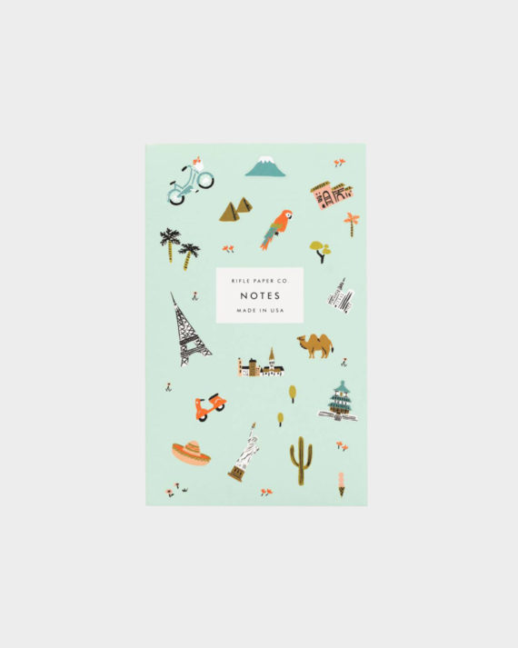 Rifle Paper co Wanderlust pocket notepad muistilehtiö