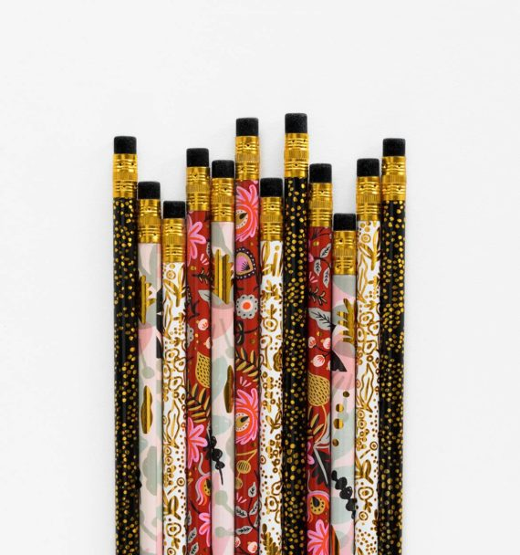 Rifle Paper co Modernist pencil set kuviollinen lyijykynä setti