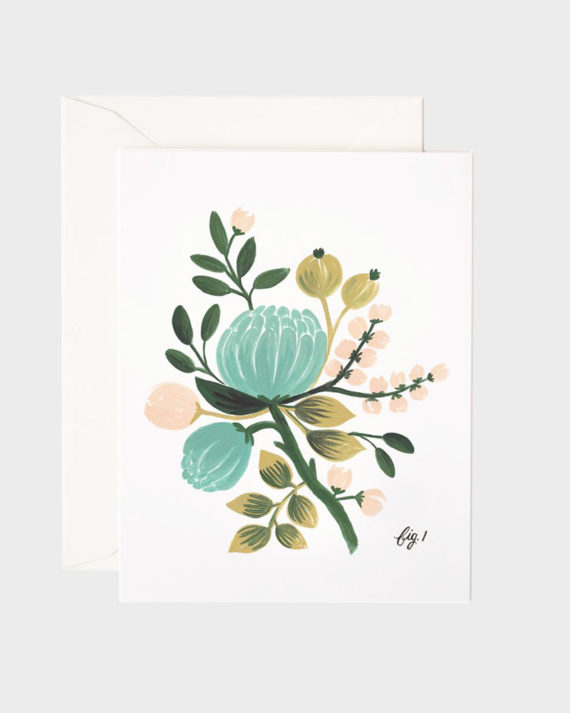 Rifle Paper co Blue Floral Greeting Card Kortti