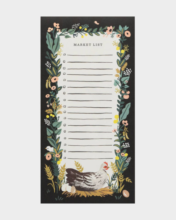 Rifle Paper co Country Farm market shopping list kauppalista