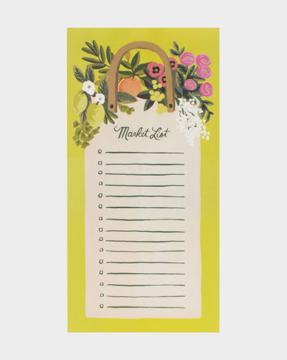 Rifle Paper co Farmer's market shopping list kauppalista ostoslista