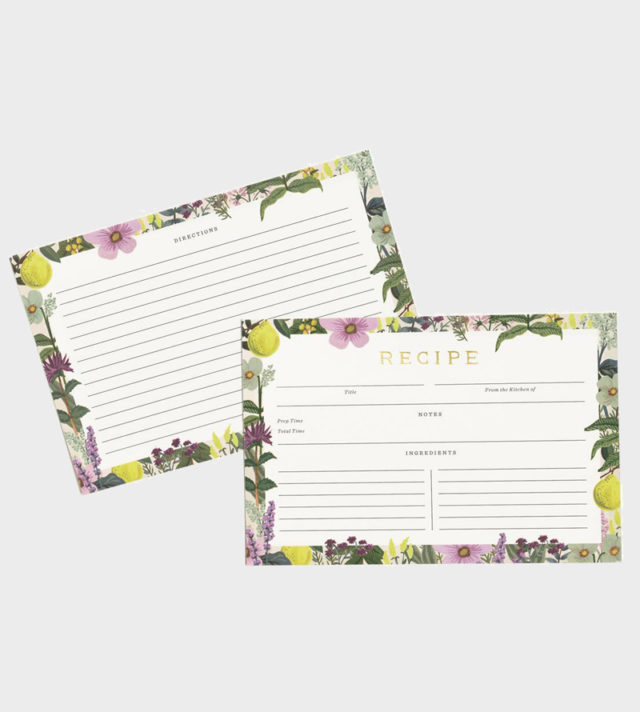 Rifle Paper co Herb Garden Recipe Cards Reseptikortit