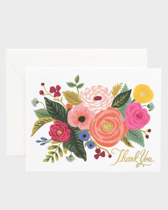 Rifle Paper co Juliet Rose Thank You Card Kiitoskortti