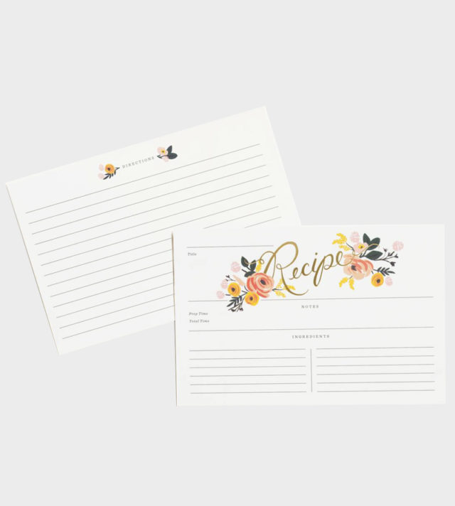 Rifle Paper co Peony Recipe Cards Reseptikortit