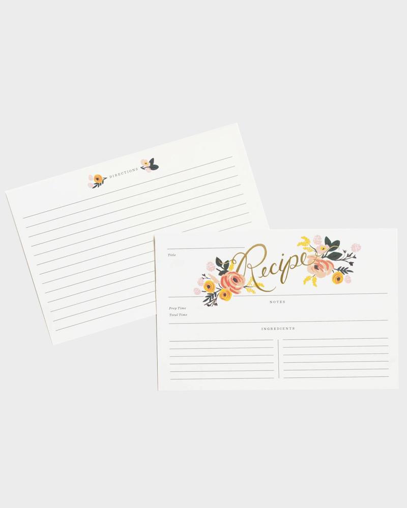 Rifle Paper co Peony Recipe Cards Reseptikortit