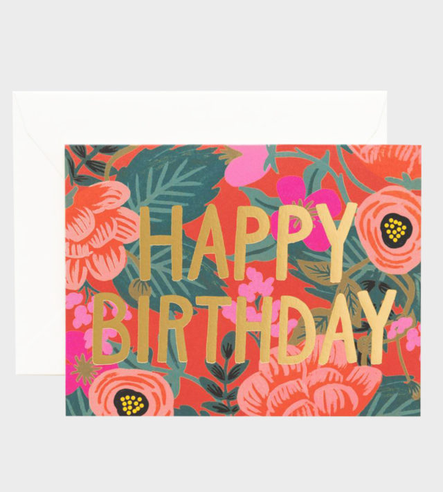 Rifle Paper co Poppy Birthday Card Syntymäpäiväkortti