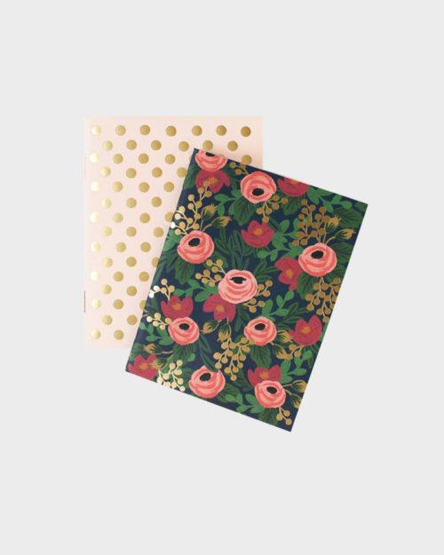 Rifle Paper co Rosa Pocket Notebook set Pikkuvihkosetti