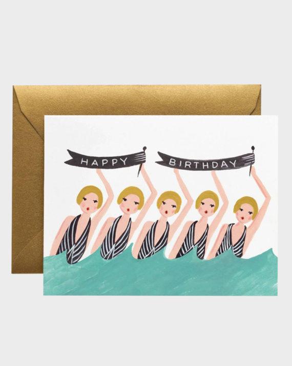 Rifle Paper co Synchronized Birthday Card Syntymäpäiväkortti