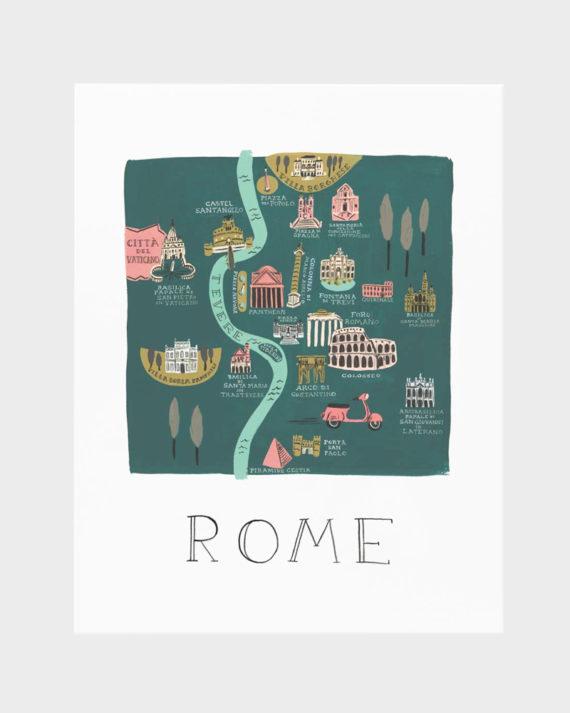 Rifle Paper co Rome poster art print juliste