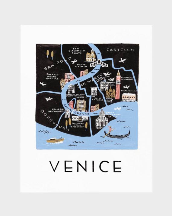 Rifle Paper co Venice poster art print juliste