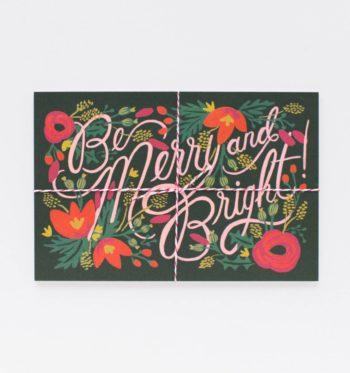 Be Merry Joulupostikortit