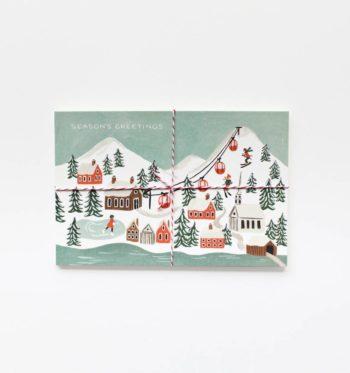 Snow Scene Joulupostikortit