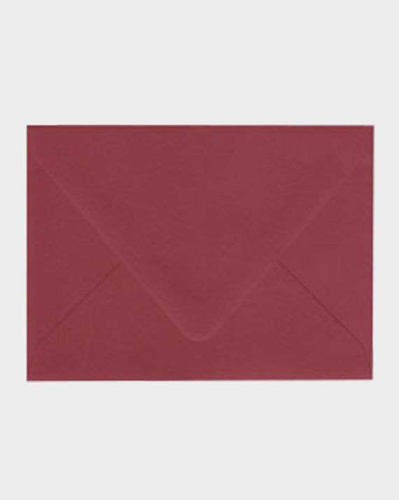 Viininpunainen matta kirjekuori / Burgundy matt envelope
