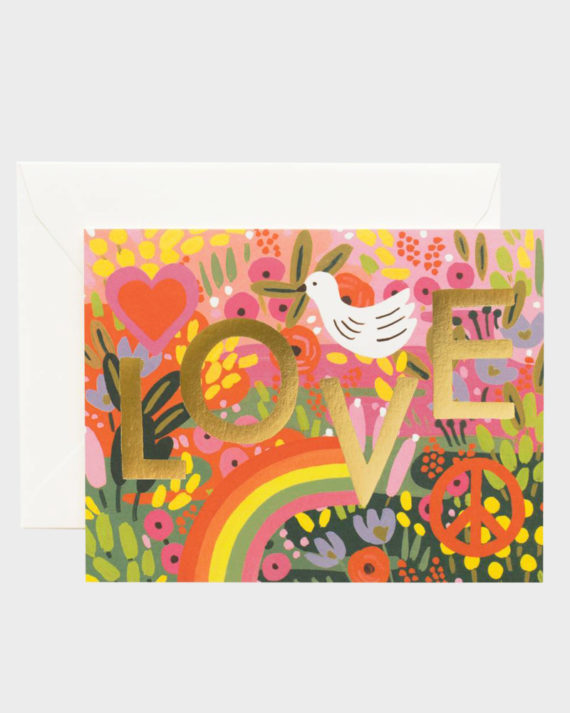 Rifle Paper co All you need is love Card Kortti