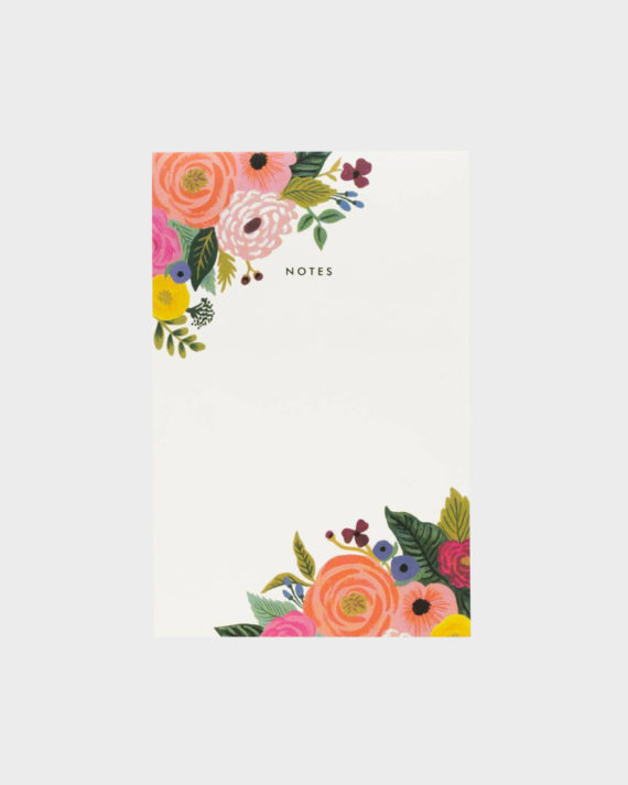 Rifle Paper co Juliet Rose Notepad Muistilehtiö
