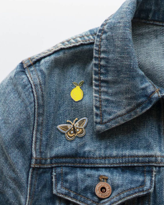 Rifle Paper co Lemon Enamel Pin Sitruuna Emali Pinssi