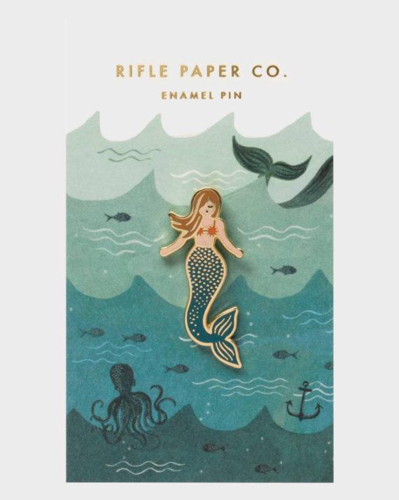 Rifle Paper co Mermaid Enamel Pin Merenneito Emali Pinssi